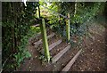 TQ4464 : Footpath junction, Farnborough by Christopher Hilton