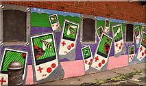 "J3272 : ""Insect"" mural, Belfast by Albert Bridge"