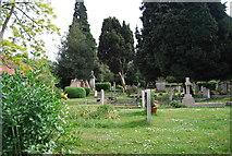 TQ1873 : Churchyard, St Peter's Church by N Chadwick