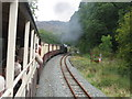 SH5945 : Welsh Highland Railway at Hafod-y-llyn by Gareth James