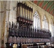 TF3244 : Organ and Choir stalls St Botolph's Church, Boston by J.Hannan-Briggs