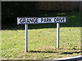 TM2749 : Grange Park Drive sign by Adrian Cable