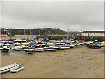 SN1300 : Boats in Tenby Harbour by David Dixon