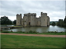 TQ7825 : Bodiam Castle (north range) with moat and entrance by Jeremy Bolwell