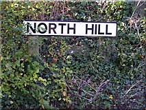TM2649 : North Hill sign by Geographer