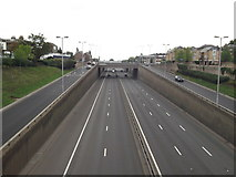 TQ4077 : The A2 Rochester Way Relief Road by David Anstiss