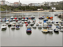 SN1300 : Tenby Harbour, High Tide by David Dixon