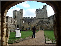 TQ7825 : The quadrangle. Bodiam Castle by Jeremy Bolwell