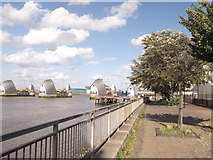TQ4179 : Thames Path near Thames Flood Barrier by David Anstiss