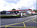 ST2182 : Fuel Forecourt, Cardiff Gate Services by David Dixon