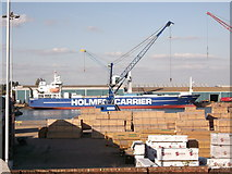 TQ7769 : Holmen Carrier in Chatham Docks by David Anstiss
