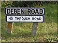 TM2749 : Deben Road sign by Adrian Cable