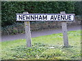TM2548 : Newham Avenue sign by Geographer