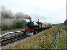 SO2508 : Mardy Monster and carriages, Blaenavon (High Level) station by Jaggery