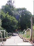 TM2649 : Steps of the Fen Meadow footpath to Meadow Walk & Cumberland Street by Geographer