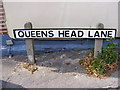 TM2649 : Queens Head Lane sign by Adrian Cable