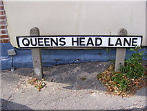 TM2649 : Queens Head Lane sign by Geographer