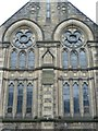 NT2472 : Windows of Bruntsfield Church, Westhall Gardens by kim traynor