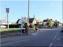 TL7625 : Bus stop at Bocking Churchstreet by PAUL FARMER