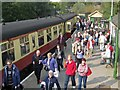 SE7984 : Passengers alighting at Pickering Station by Pauline E