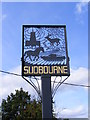 TM4152 : Sudbourne Village sign by Adrian Cable