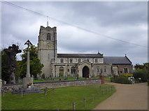 TL3949 : Barrington Church by Finlay Cox