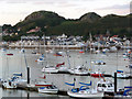 SH7877 : View over Conwy Harbour towards Deganwy and the Vardre by Phil Champion