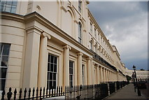 TQ2882 : Georgian Terrace, Park Square East by N Chadwick