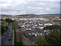SH7777 : View along the line of the town walls from Tower 13, Conwy by Phil Champion