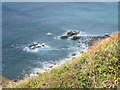 SW6243 : View from the coast path  at North Cliffs near Portreath, Cornwall by Derek Voller