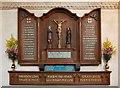 SP8526 : St Michael & All Angels, Stewkley - War Memorial by John Salmon
