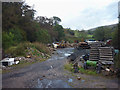 SD7690 : Junk and building waste at Mill Bridge by Karl and Ali