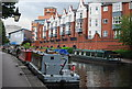 SP0586 : Narrowboats on the Birmingham Canal by N Chadwick