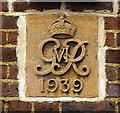 TQ3669 : George VI cypher, Beckenham Post Office by Julian Osley