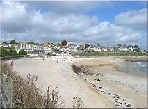 SW8031 : View Northeast along Gyllyngvase Beach, Falmouth by Derek Voller