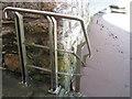 SX9372 : Handrail near Gate No.4  by Robin Stott