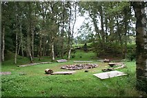 NJ8734 : Camp Fire by Andrew Wood