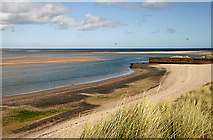 NU1535 : The beach at Budle Bay by Walter Baxter
