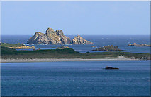 SV8917 : Men-a-Vaur seen from St Mary's, Scilly by John Rostron