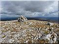 NH1816 : Summit cairn - Carn a' Choire Bhuidhe by Richard Law