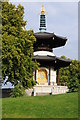 TQ2777 : Peace Pagoda, Battersea Park by Philip Halling