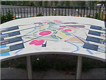 TQ3783 : Information Board facing the Olympic Park (2) by David Hillas