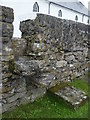 L9702 : Stone stile at Inis Oírr chapel by louise price