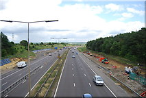TQ5885 : M25 near North Ockendon by N Chadwick