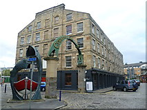 NT2676 : Entrance to Commercial Quay, Dock Place by kim traynor