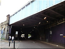 TQ3479 : Railway bridge over St. James's Road by David Anstiss