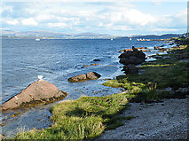 NS1055 : Shore at Kilchattan by Anne Burgess