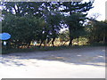 TM3545 : Footpath to Melton Road & Entrance to Poplar Park Equestrian Centre by Adrian Cable