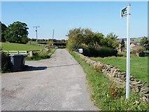 SE2606 : Public footpath along Pashley Green Farm track by Christine Johnstone