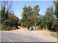 TM3344 : Footpath to Meadow Farm & Fox Hill & Entrance to Bussocks Barn by Adrian Cable